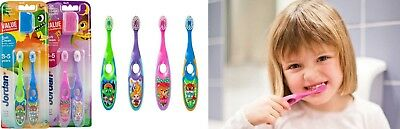 Jordan Step 3 - 5 years - Soft - Children's Toothbrush + Cap - Ergonomic Handle