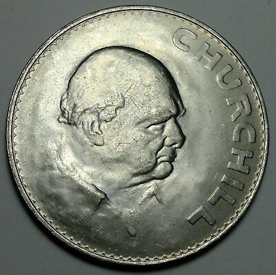 1965 Winston Churchill, Great Britain Crown, Commemorative Coin, UK coins