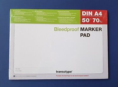 Copic Marker Block DIN A4 Layoutpapier transotype MARKER PAD 50 Blatt