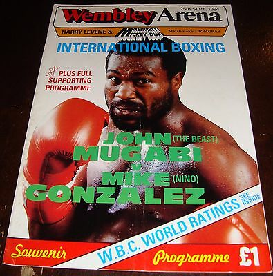 "John ""the Beast"" Mugabi V Mike Gonzalez-Middleweights-1984-Boxing Program"
