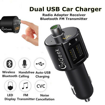 Auto Bluetooth FM Transmitter Wireless Radio MP3 Player Adapter USB Ladegerät DE