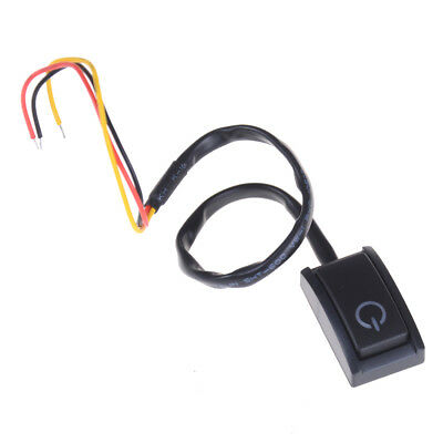 DC 12V/200mA Car DIY Push Button Latching Turn ON/OFF Switch LED Light HU PL