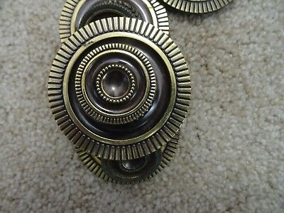 29 Vintage Antique Brass Cupboard Cabinet Door Drawer Pulls Knobs Patrician 2pc.