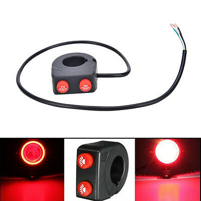 7/8'' 22mm Motorcycle Bike Handlebar On Off Button Head Spot Fog Light Switch PL