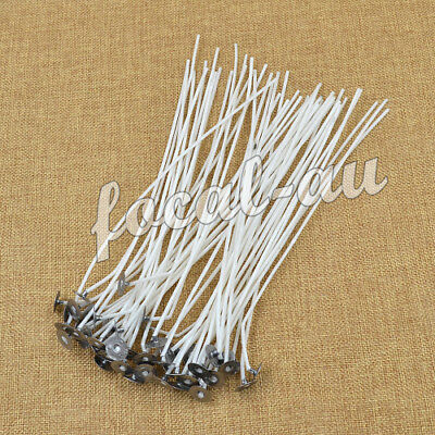 Candle Wicks White Cotton Core For Candle Making Party Supplies Holder 50 Pcs