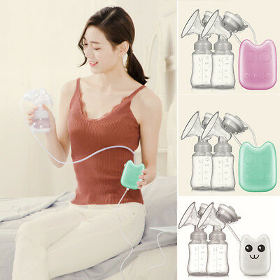 Double electric breast pump  Feeding Bottle USB Powerful Suction Breast Pumps