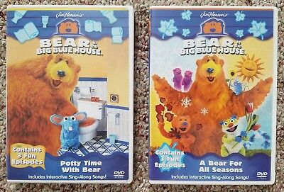 BEAR IN THE BIG BLUE HOUSE Toddlers Kids DVD Lot of 2:  Seasons Potty