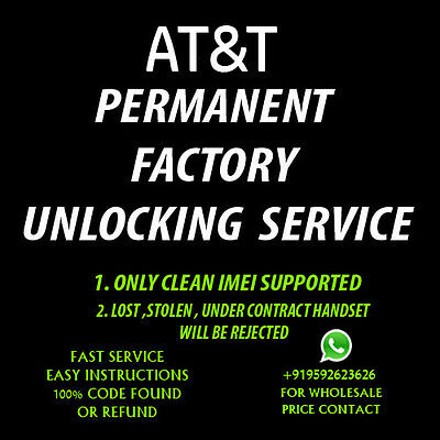 Samsung Galaxy Note 4  UNLOCK CODE ATT AT&T ONLY FACTORY UNLOCK CODE