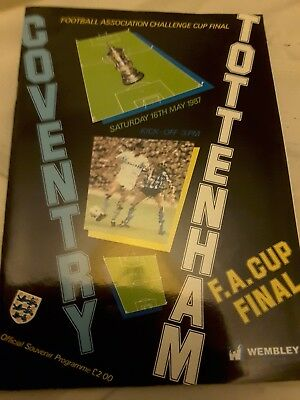 * 1987 FA CUP FINAL - COVENTRY CITY v TOTTENHAM HOTSPUR *