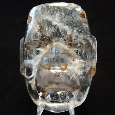 Ancient Pre-Columbian Olmec Crystal Quartz Stone Mask ~ Ultra Rare!