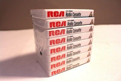Lot Of 9 Nine NOS New SEALED Blank Cassette Audio Recording Tape RCA SHIPS FREE