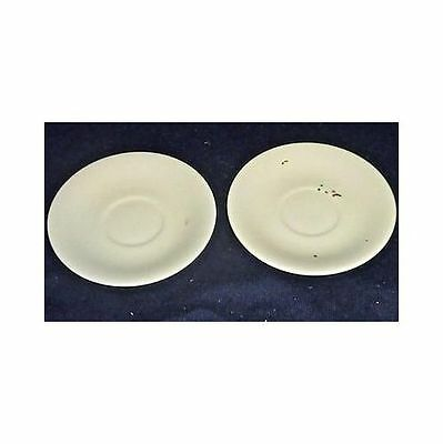2 Small Vintage Unmarked White Porcelain Saucers