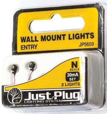 Woodland Scenics (N-Scale) 5659 Just Plug Wall Mount Entry Light (2)