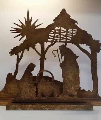 Metal Nativity Set - 2 pieces The Promise of Christmas by Robert Stanley 2012