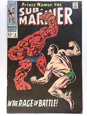 Sub-Mariner #8 VG+ 4.5    Marvel Comics