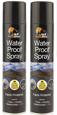 1x 300ML Water Proof Spray Fabric Protector Waterproofing for Shoes Tents Cloth