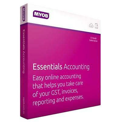 Myob Essentials 1-Payroll/1-Year Subscription Boxed License