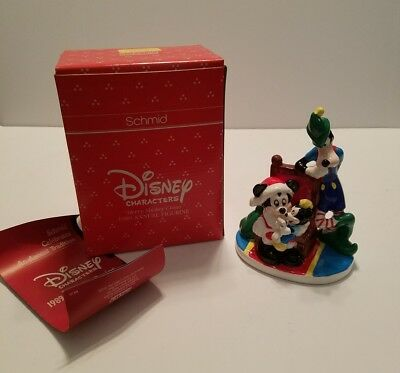 """Schmid Disney Characters 1989 Annual Figurine, """"Merry Mickey Claus"""" NICE"""