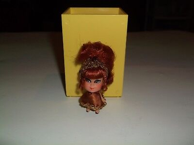 Vintage Mattel Liddle Kiddle Kleo Kola Doll In Played With Condition