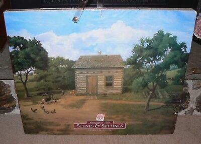 American Girl doll Kirsten Scenes and Settings oversized background book huge