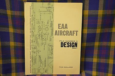"""Vintage Aircraft """"DESIGN"""" EAA Aircraft Volume One File Number Three"""