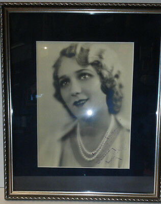 MARY PICKFORD Signed Autograph Black & White Photo Framed 8x10 JSA Authentic
