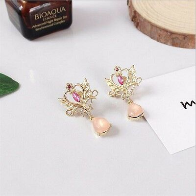 Anime Sailor Moon 25th anniversary Neo Queen Serenity Tiara Earrings Cosplay