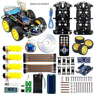 Arduino Project Smart Robot Car Kit with four-wheel driver UNO R3 integrated ...