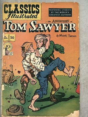 Classics Illustrated #50-1948 1st edition Twain Tom Sawyer