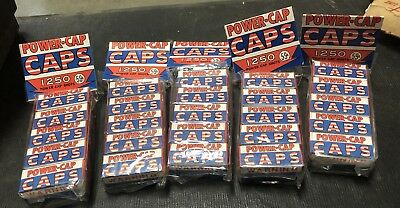 NOS Toy Cap Gun Pistol CAPS 25 Boxes Unopened 6250 Shots Imperial Toy Corp Old