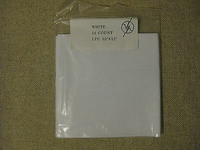 V & A 14 Count Aida Fabric 100% Cotton - Cross Stitch Embroidery 30x30cms 12x12""