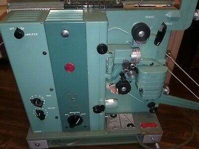 Vintage RCA Model 400 16mm Film Projector and Case   WORKS!!!!!
