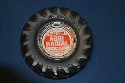 Tractor Tire Ashtray Co-Op Agri Radial—Vintage