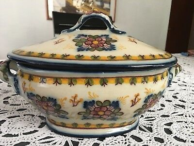 Vintage SantAnnA Designs Hand Painted Portugal Covered Caserole