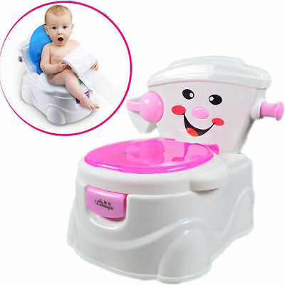 Kids Toilet Seat Baby Children Toddler Training Potty Safety Urinal Chair Pink