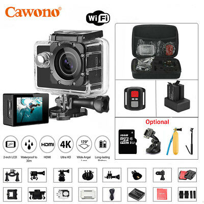 4K WiFi Sport Action Camera 1080P Waterproof Travel Camcorder with Bag as Go Pro