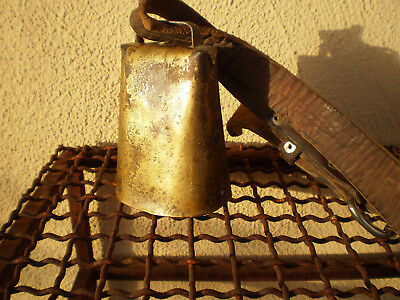 Great Large Antique Primitive Heavy Cow Bell Hand Forged  Ranch Dairy