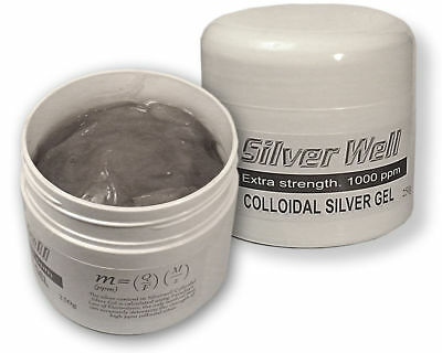 Extra Strength Colloidal Silver Gel Cream - 1000 ppm - 250 mls (8.5 ozs)