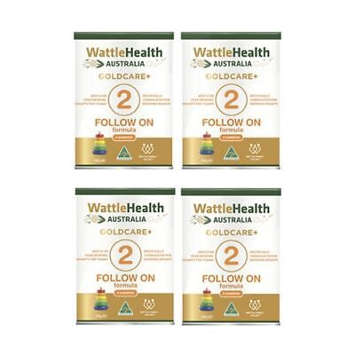 Wattle Health Goldcare+ Stage 2 Infant Follow-On Baby Formula 6-12 months 4 Pa