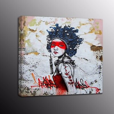 Banksy Art Canvas Prints Picture Street Art Girl Wall Painting Home Decor Art