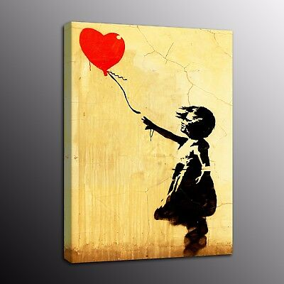Banksy Art HD Canvas Prints Girl With Balloon Street Art Wall Painting Picture