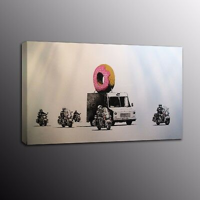 Banksy Art Modern Canvas Prints Street Art Motorcycle Car Picture Wall Painting