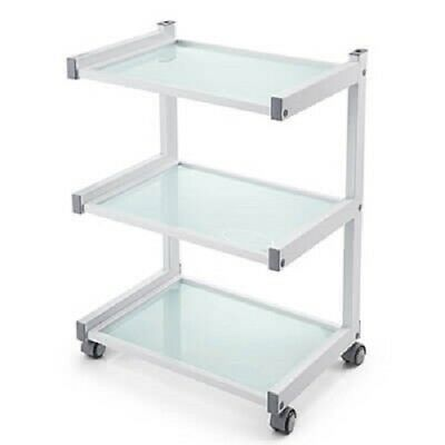 Versatile trolley 3 tier frosted glass medical beauty injectables brows