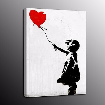 Large Banksy Art HD Canvas Prints Girl With Balloon Street Art Wall Art Painting