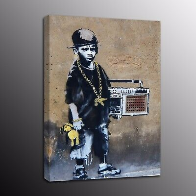Banksy Art Canvas Print A Boy Picture Street Art Wall Painting Poster Home Decor