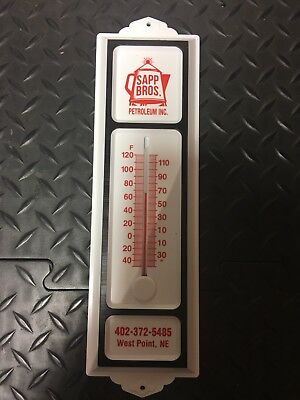 Sapp Bros Brothers Gas And Oil Company Advertising Thermometer