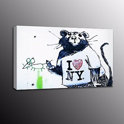 Banksy Art Canvas Prints Love Mouse Street Art Wall Painting Home Decor Picture