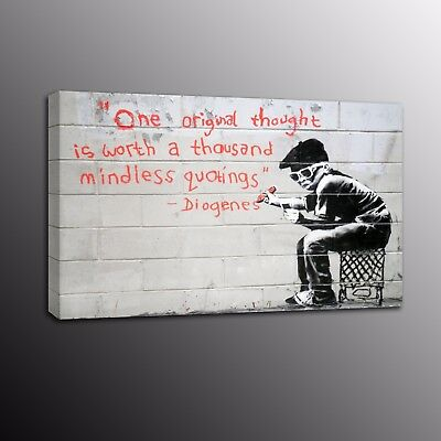Banksy Art Canvas Print Street Art Picture Wall Painting Boy Home Decor Poster