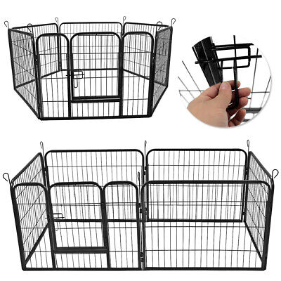 Heavy Duty 6 Panel Pet Play Pen Puppy Dog Run Cage Enclosure Folding Fence
