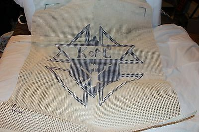 """LARGE Vintage Knights of Columbus Shield Cross Stitch Pattern Only 25"""" x 33"""""""